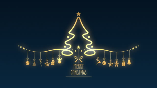 christmas tree hanging decoration elements - stick plant part stock videos & royalty-free footage