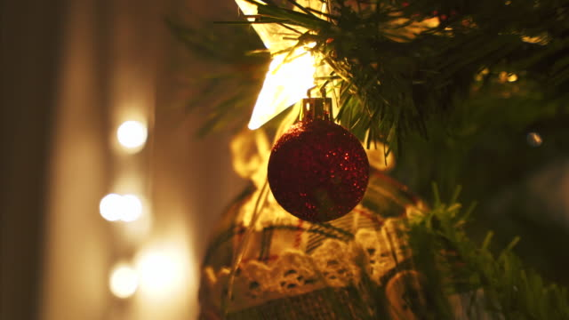 christmas tree in night time. - ornate stock videos & royalty-free footage