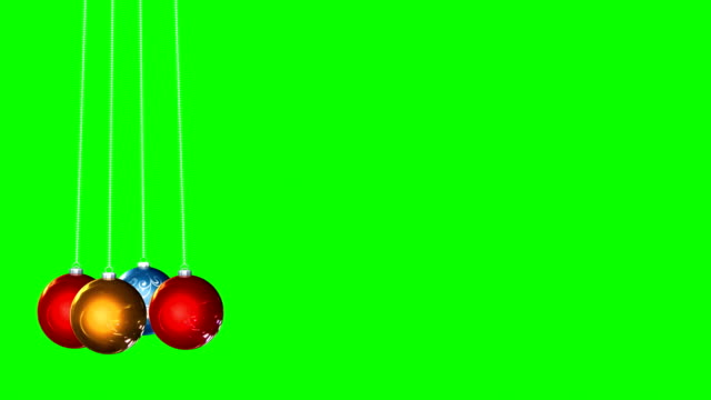 christmas tree ornament green box background infinite loop - christmas bauble stock videos & royalty-free footage