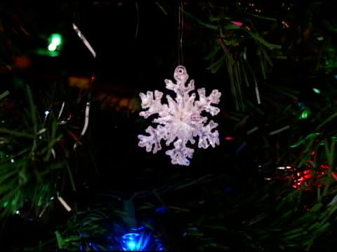 vídeos y material grabado en eventos de stock de árbol de navidad - zoom hacia fuera
