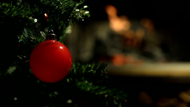 hd: christmas tree - fireplace stock videos & royalty-free footage
