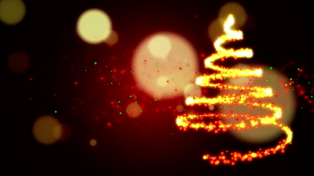 christmas tree - yellow stock videos & royalty-free footage