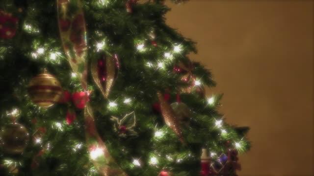 christmas tree - albero di natale video stock e b–roll