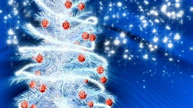 christmas tree - silver coloured stock videos & royalty-free footage