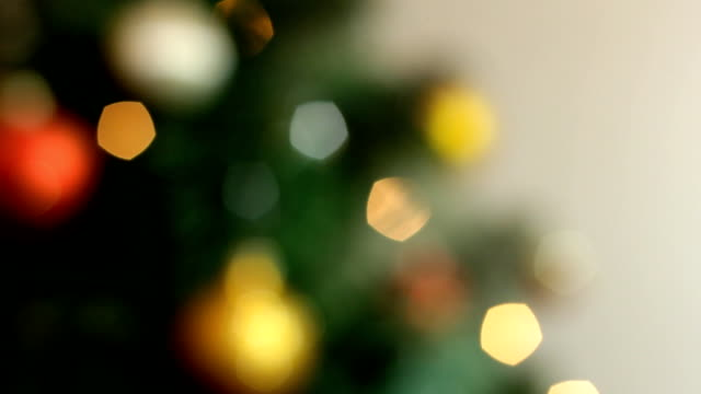 christmas tree - soft focus stock videos & royalty-free footage