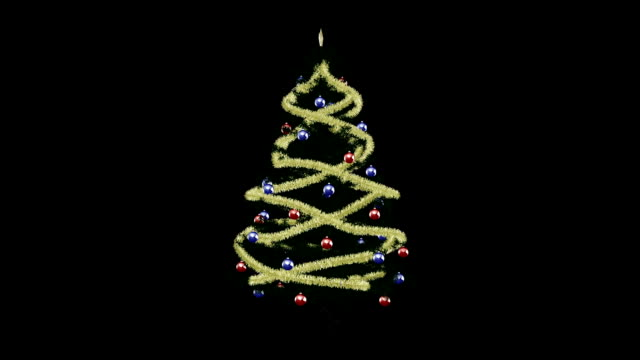 クリスマスクリスマスツリー  - ティンセル点の映像素材/bロール