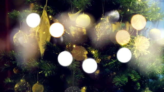 christmas tree with fairy lights - candy cane stock videos & royalty-free footage