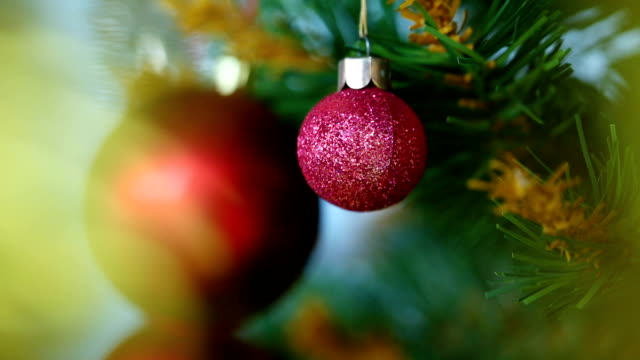 christmas tree with ornaments - bright stock videos & royalty-free footage