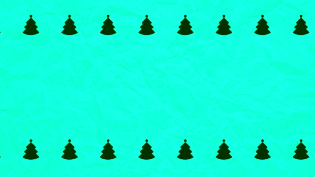 vídeos y material grabado en eventos de stock de árboles de navidad y antecedentes del papel arrugado - fondo turquesa