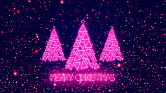4k christmas trees - merry christmas animation - purple stock videos & royalty-free footage