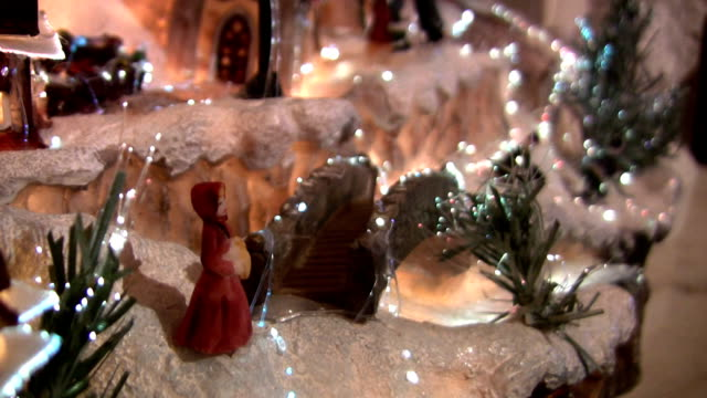 christmas village - figurine stock videos and b-roll footage