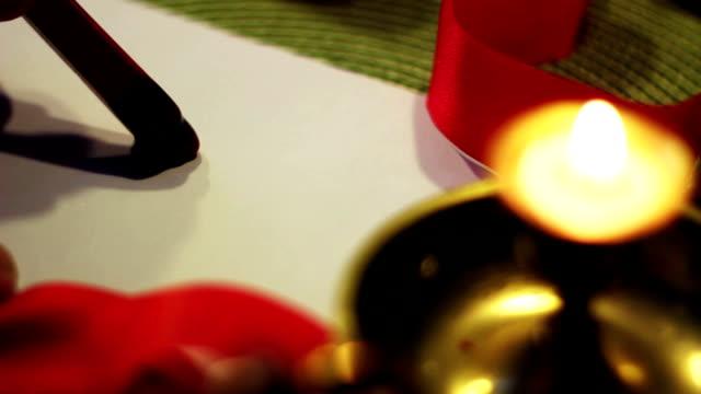 stockvideo's en b-roll-footage met christmas wax seal - god jul - correspondentie