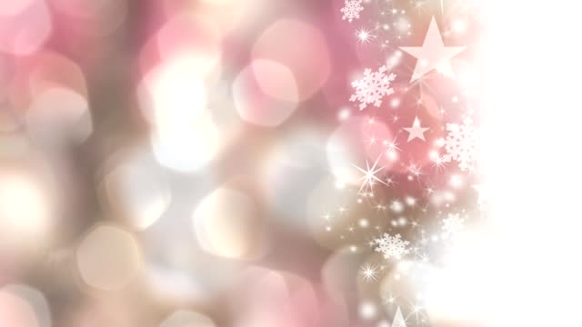 christmas, winter background of snowflakes, stars and holiday lights. - pink background stock videos and b-roll footage