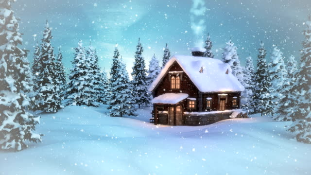 christmas - winter landscape | loopable - snowing stock videos and b-roll footage