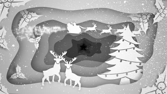 christmas wintery scene animation - tinsel stock videos & royalty-free footage