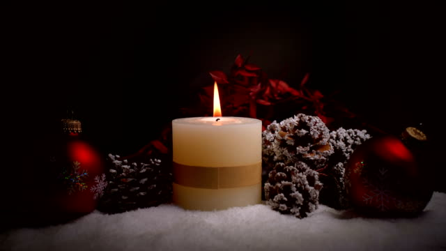 Christmas with decoration and candle