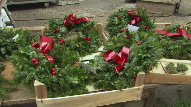 MS Christmas wreaths for sale / Salzburg, Austria