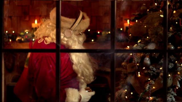 christmass santa dancing - father christmas stock videos & royalty-free footage