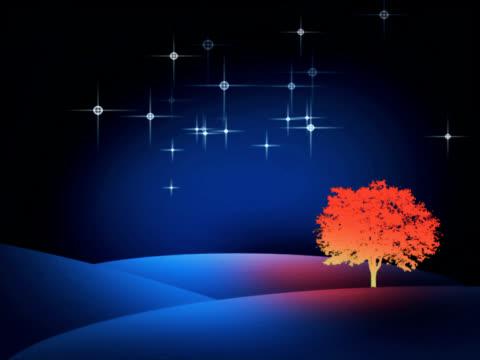 christmass tree with stars (pal 25p) - cartoon p stock videos & royalty-free footage