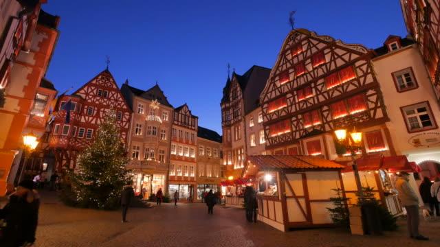 Christmastime at the Market Square of Bernkastel-Kues, Moselle Valley, Rhineland-Palatinate, Germany