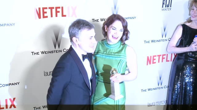 Christoph Waltz and Ruth Wilson at the 2015 Weinstein Company And Netflix Golden Globe After Party at Robinsons May Lot on January 11 2015 in Beverly...