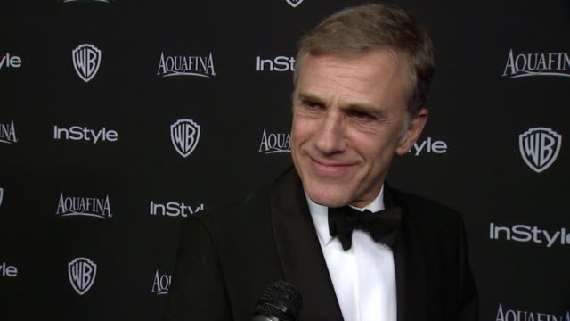 INTERVIEW Christoph Waltz at 16th Annual InStyle And Warner Bros Golden Globe AfterParty on January 11 2015 in Beverly Hills California