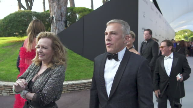 christoph waltz at amfar cannes gala 2019 - arrivals at hotel du cap-eden-roc on may 23, 2019 in cap d'antibes, france. - amfar stock videos & royalty-free footage