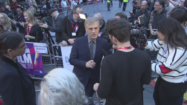 Christoph Waltz at 'Downsizing' UK Premiere 61st BFI London Film Festival at Odeon Leicester Square on October 13 2017 in London England