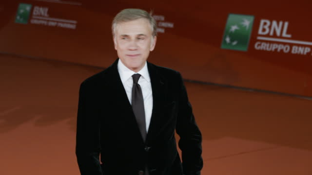 christoph waltz at 'hostiles' red carpet rome film fest on october 26 2017 in rome italy - rome film fest stock videos and b-roll footage