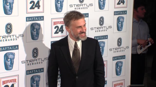 christoph waltz at the bafta la's 16th annual awards season tea party at beverly hills ca - bafta la tea party stock videos and b-roll footage