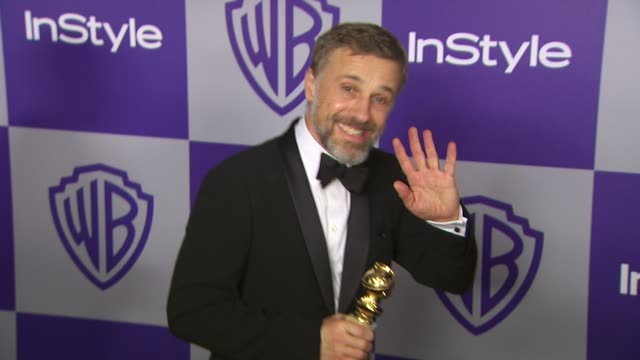 vídeos y material grabado en eventos de stock de christoph waltz at the warner bros and instyle golden globe afterparty at beverly hills ca - warner bros