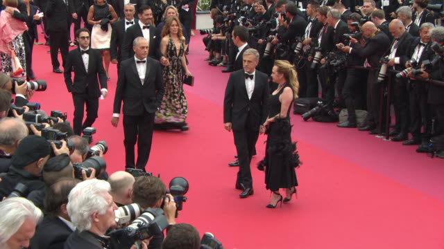 Christoph Waltz Caroline Scheufele at 'Yomeddine' Red Carpet The 71st Annual Cannes Film Festival at Grand Theatre Lumiere on May 09 2018 in Cannes...