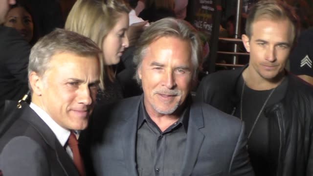 christoph waltz don johnson at the hateful eight premiere at arclight theatre in hollywood at celebrity sightings in los angeles on december 07 2015... - 2015 video stock e b–roll