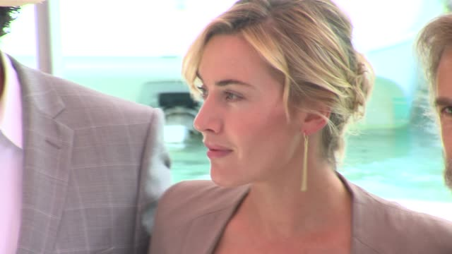 christoph waltz, kate winslet and john c. reilly at the carnage casino arrivals: venice film festival 2011 at venice . - kate winslet stock videos & royalty-free footage