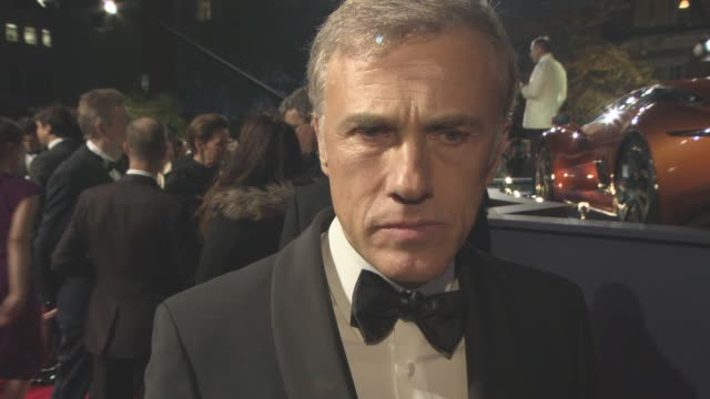 INTERVIEW Christoph Waltz on being a Bond villain at 'Spectre' World Premiere at Royal Albert Hall on October 26 2015 in London England