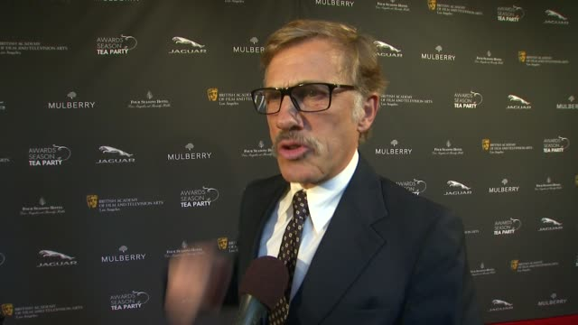 interview christoph waltz on being a part of the afternoon what bafta's support means to him his favorite projects of the year at bafta la 2014... - season 11 stock videos and b-roll footage