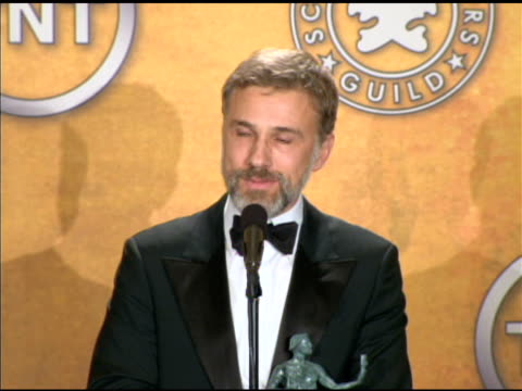 Christoph Waltz on being an overnight success after 30 years in the industry at the 16th Annual Screen Actors Guild Awards Press Room at Los Angeles...