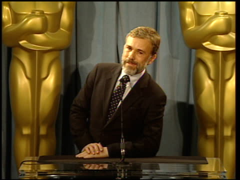 Christoph Waltz reactions to nominations and his role in the movie at the 82nd Academy Awards Nominees Luncheon at Beverly Hills CA