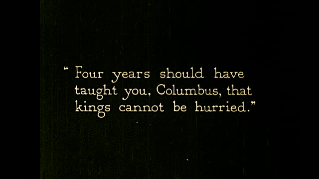 """vidéos et rushes de christopher columbus talking to palace official: """"if the king will not hear me further, at least get me back my maps. i have been waiting four... - christopher columbus explorateur"""