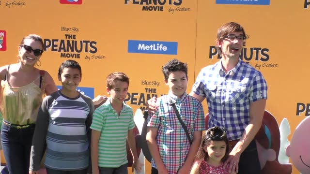 Christopher Gorham Anel Lopez at The Peanuts Movie Premiere at Regency Village Theatre in Westwood on November 01 2015 in Los Angeles California