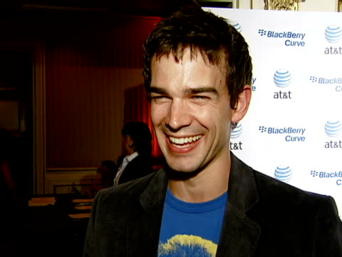 christopher gorham at the blackberry curve from at&t u.s. launch party at beverly hills california. - curve stock videos & royalty-free footage