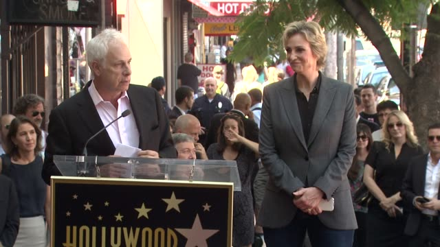 speech christopher guest on knowing and working with jane lynch at jane lynch honored with star on the hollywood walk of fame speech christopher... - jane lynch stock videos and b-roll footage