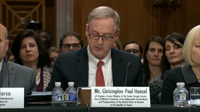 Christopher Henzel nominated for US Ambassador to Yemen tells the Senate Foreign Relations Committee that if confirmed he would work to advance...