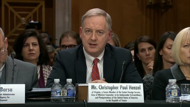 Christopher Henzel nominated for US Ambassador to Yemen tells the Senate Foreign Relations Committee that it was not appropriate to be over...