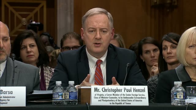 Christopher Henzel nominated for US Ambassador to Yemen tells the Senate Foreign Relations Committee that will be a great success if the UN Special...