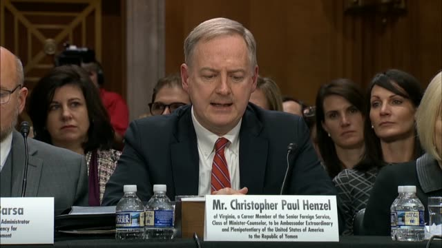Christopher Henzel nominated for US Ambassador to Yemen tells the Senate Foreign Relations Committee that the administration condemned the atrocity...