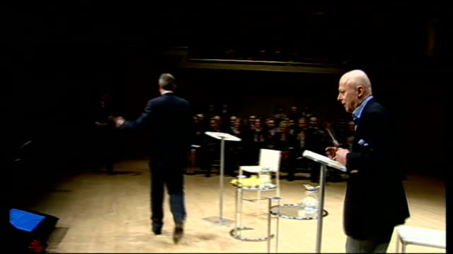 christopher hitchens dies at the age of 62 lib london royal festival hall blair and hitchens on stage for debate - christopher hitchens stock videos & royalty-free footage