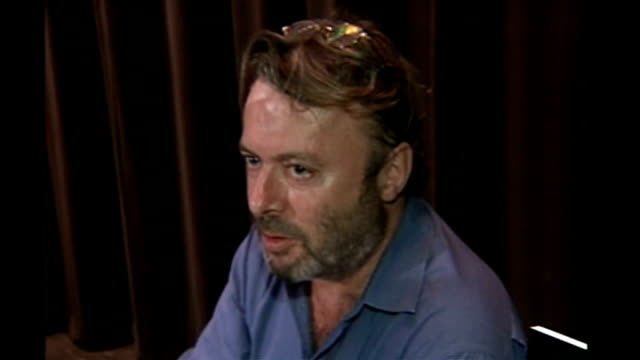christopher hitchens dies at the age of 62 tx 1592005 new york baruch college shots of hitchens at booksigning event - christopher hitchens stock videos & royalty-free footage