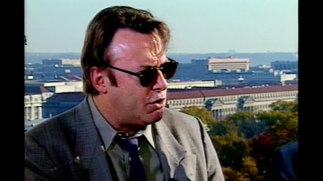 christopher hitchens dies at the age of 62 tx 7112000 washington dc ext christopher hitchens interviewed sot - christopher hitchens stock videos & royalty-free footage