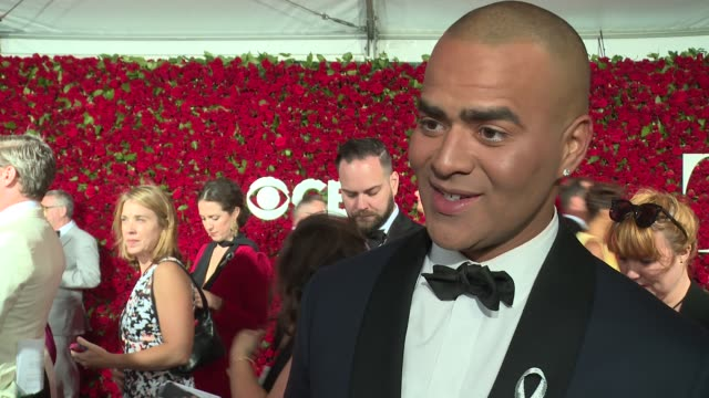 interview christopher jackson talks about the tragedy in orlando at 2016 tony awards red carpet at the beacon theatre on june 12 2016 in new york city - 70th annual tony awards stock videos and b-roll footage